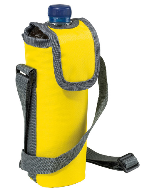 neck strap cool bag yellow