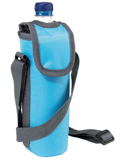 neck strap cool bag lightblue