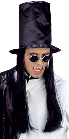 Vampire top-hat with hair