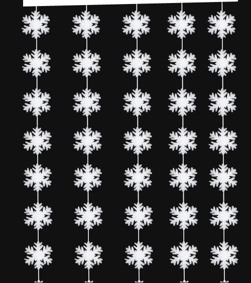 *Snow Crystal Garland B1
