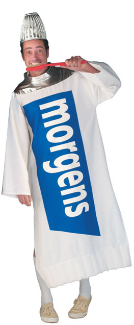 Tooth paste costume blue
