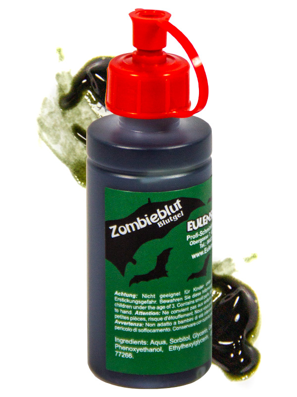 Bottle of Zombie Blood Halloween 50ml black