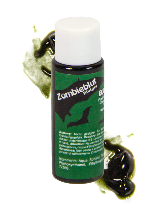 Bottle of Zombie Blood Halloween 20ml black
